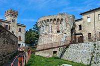 Medieval fortification at Colle Di Val D Elsa, Tuscany, Italy.