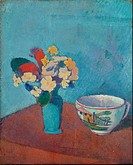 Emile Bernard - Vase with flowers and cup - Van Gogh Museum, Amsterdam.