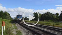 Sanford Florida Amtrak Auto Train from Florida to Washington DC with cars on train, 4K