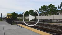 Sanford Florida Sun Rail Train for Florida locals mass transit station moving train, 4K