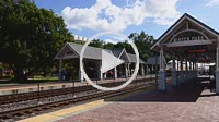 Winter Park Florida Sun Rail Train at station transportation rail mass transit 4K,