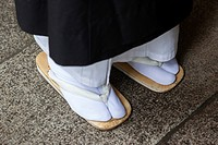 Zori japanese sandal in Koyasan is primarily known as the world headquarters of the Koyasan Shingon sect of Japanese Buddhism.
