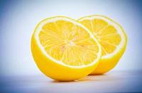 The two halves of a lemon