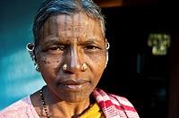 Woman belonging to the Kutia Kondh tribe ( Kandhamal district, Odisha state, India). She is christian.