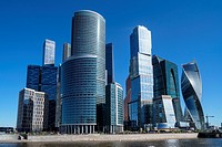 Skyscrapers of Moscow City business center. Russia.