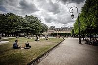 Place des Vosges, Marais district, Paris, France.