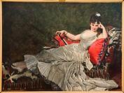 Charles Durand aka Carolus-Duran. Portrait de Mademoiselle de Lancey. 1876 - Oil on Canvas. Petit Palais Museum. Paris - France.