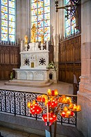 Interior de la Catedral de San Pedro en Nantes. Paises del Loira. Francia. Europa.