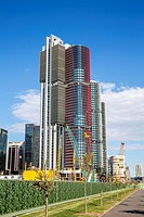 Barangaroo in Sydney city centre with high rise skyscraper towers,Sydney,Australia.