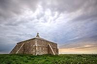 St Adhelm's chapel, Adhelm's Head, Purbeck, Jurassic Coast, Dorset, England.