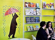 Bologna, Italy: a publisher stand at Bologna Children´s Book Fair