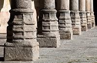 Patio de las Escuelas Menores. Universidad de Salamanca. Castilla-León. España. Europa.
