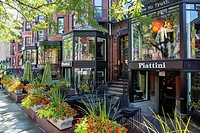 luxury shops Newbury street Boston MA USA Massachussets.