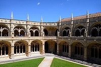 The Jeronimos Monastery or Hieronymites Monastery (The Mosteiro dos Jeronimos), a former monastery of the Order of Saint Jerome near the Tagus river i...
