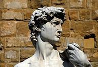 Statue of David at Piazza della Signoria in Florence, Tuscany, Italy