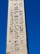 Close-up of the Flaminio Obelisk (Italian: Obelisco Flaminio) located in Piazza del Popolo, Rome, Italy, Europe.