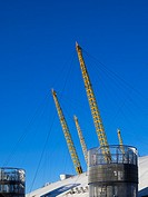 Exterior of roof structure on the O2 London building, formerly known as the Millenium Dome.