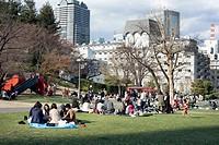 Public park in Tokyo city