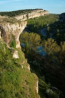The river Pisuerga and the canyon of La Horadada as it passes through the Las Tuerces Natural Monument. World Geopark Las Loras. UNESCO Global Geopark...