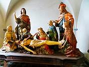 """Bellano, Province of Lecco, region Lombardy, eastern shore of Lake of Como, Italy. Saint Martha's Church, Giovanni Angelo Del Maino """"""""il compianto"""""""" (..."""