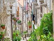 Dubrovnik Croatia old town narrow street