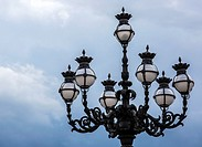An ornate lamp in St. Peter's Square, Vatican City, Europe.