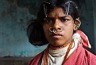 Girl belonging to the Dongriya Kondh tribe ( Odisha state, India).