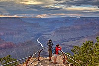 Grand Canyon seen from Mohave Point, South Rim, Arizona, United States.
