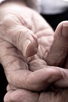 Wrinkled hands, Old people, Spain
