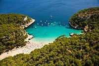 Cala Mitjana. Minorca. Balearic Islands. Spain.