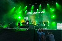 KIEL, GERMANY - June 16 2017: The singersongwriter Max Giesinger is performing on the NDR Bühne at the Soundcheck Friday during the Kieler Woche 2017.
