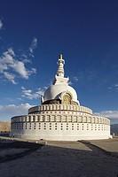 Shanti Stupa, Leh, Ladakh, India.