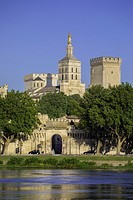 France, Provence region, Avignon city, the Popes Palace , W. H. , St. ,Rhone river,.