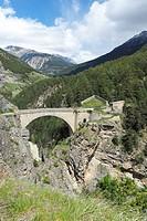 Asfeld Bridge, Fort des 3 têtes, Vauban building, Briançon, Hautes Alpes,Frenc Alps, Provence Alpes Côte d'Azur, France, Europe.