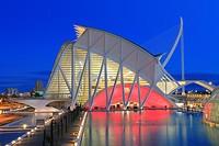 Principe Felipe Science Museum, City of Arts and Sciences, Valencia, Spain.