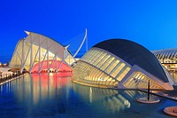 Principe Felipe Science Museum and The Hemisferic, City of Arts and Sciences, Valencia, Spain.