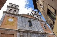 The Collegiale Notre Dame church in Briançon, Hautes Alpes,Frenc Alps, Provence Alpes Côte d'Azur, France, Europe.