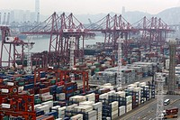 Container Terminal, Hong Kong, China, East Asia.