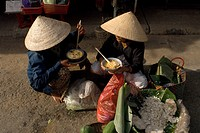 Hoi An, Old Town, listed as World Heritage by UNESCO, soup seller, Quang Nam Province, Vietnam.