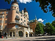 The LO-building. Stockholm, Sweden. The LO is a national federation of trade unions in Sweden. Located at the Norra Bantorget or Northern Railway Squa...