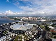 Football stadium Zenit-Arena in St. Perepberburg. Russia.