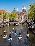 Amsterdam Canal Paddleboard.