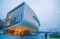 Botin Center, night view. Santander, Spain.