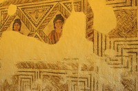 Roman mosaic, 3rd century, Olivar del centeno (millanes de la mata). Cáceres, Extremadura, Spain