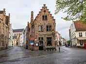 Bruges Belgium Street Scene.