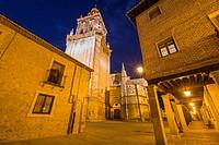 Burgo de Osma village by dusk Soria province Castile Leon Spain on June 11, 2017.