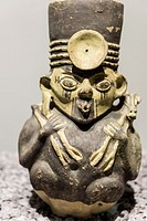 National Museum of Archeology, Anthropology and History of Peru.Lima, Peru. Chancay culture (1200AC-1470AC).