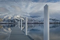 Boat dock on Columbia River, Entiat Washington.