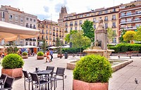 Plaza de Pedro Zerolo in Chueca District. Madrid. Spain.