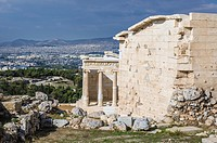 Temple of Athena Nike in Acropolis of Athens city, Greece.